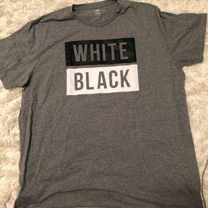 """""""white black"""" t-shirt"""
